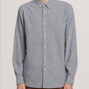 Men's Volcom Long Sleeve Grey Button Down Shirt